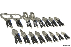 Grip wrenches set 16 pcs with rubber-covered handles