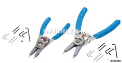 Circlip Pliers Set 2 pc Size I & II with interchangeable tips 0° & 90°