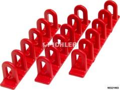 Zugösen  Multipads rot VPE 3St unten flach Klebeaufsätze 6x22x156