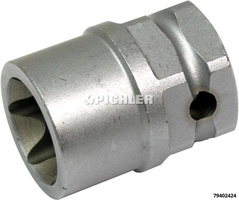 Bremssattel-Spezialnuss E24 Torx E-Profil E24x38mm lang Antrieb 1/2 und SW27
