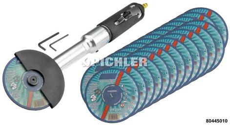 Druckluft-Trennschleifer Set inklusive 25 Stück Trennscheiben  100x1,0x10mm