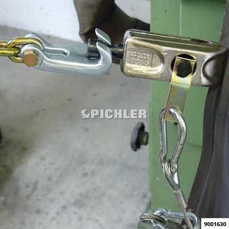 Zugklemme flache Backen für Bleche mit flachem Profil Zug über Halsnutenkopf