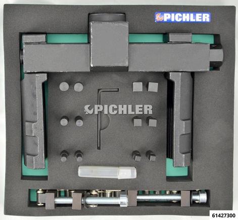 Achsmutternschlüssel UNI m.12 Einsätze verstellbar drm. 70mm-150mm Antrieb vierkant 3/4