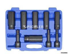 Impact Drive Shaft Socket Set 12-point, Deep, Thin Walled, ¾""