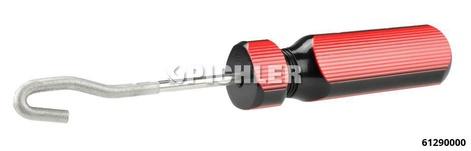 Bremsleitungs- Reinigungswerkzeug mit Feilenhiebausnehmung zum Abschaben von Schmutz und Korrosion