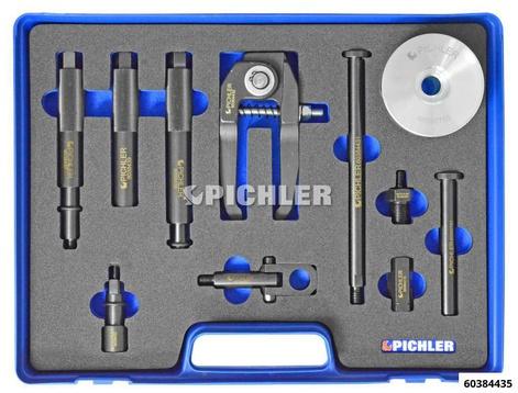 Injektor Demontagesatz Mod.UNI II, 10-tlg. mit Greifkralle